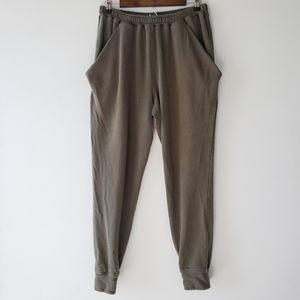 Free People Drab Olive Jogger Drawstring Pants